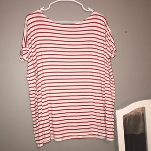 red&white striped over sized t-shirt